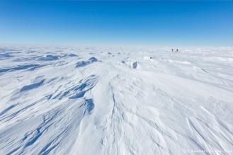 Le pôle Sud n'est plus très loin et la température ressentie chute encore, pour atteindre -50 °C.