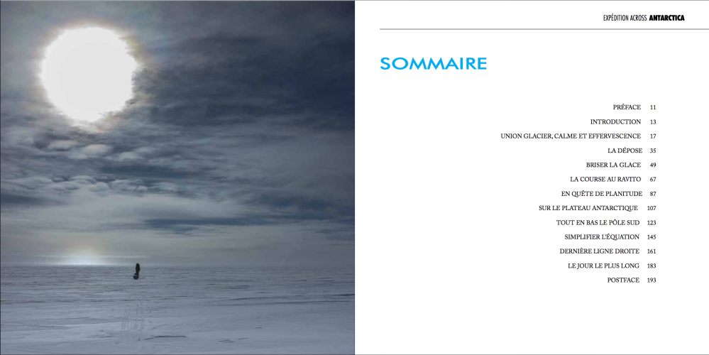 Sommaire - Livre EXPEDITION ACROSS ANTARCTICA